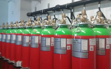 INERGEN gázzal oltó rendszer