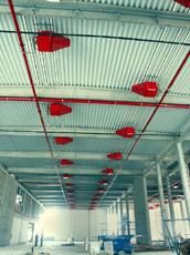 Tűzőr Kft. által megvalósított raktártűzvédelem habgenerátorokkal
